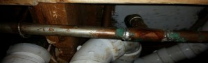 Mold growth on a pipe